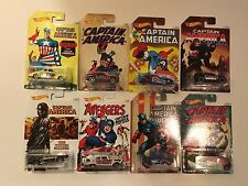Hot Wheels set of 8 2016 75th Anniversary Captain America -  Walmart Exclusive