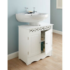 New Design  white floral and crystal handles Camille Undersink Cabinet