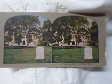 Cambridge Ma Mass-stereo view card-Yale University- Law Library