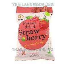 2PCSx14g THAI STRAWBERRY CHIPS FREEZE DRIED FRUIT HEALTHY FOOD EASY EATING SNACK