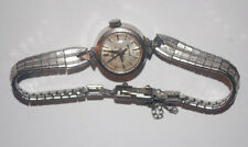 VINTAGE MIDO POWERWIND SWISS 10K G.F. B&A WIND UP LADIES WRIST WATCH SILVER TONE