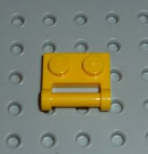 LEGO - PLATE, Modified 1 x 2 with Handle, YELLOW x 4 (48336) PM151