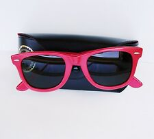 Vintage Bausch & Lomb B&L Ray Ban USA Wayfarer 5022 Red Sunglasses w/ Case