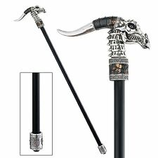 GOTH DRAGON GENTLEMAN WALKING STICK Cane Dad Husband Collector Gift Antique Look