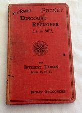 VINTAGE RAPID POCKET DISCOUNT RECKONER BOOK