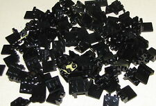 LEGO LOT OF 100 NEW BLACK 1 x 2 - 2 x 2 MODIFIED BRACKET PIECES PLATES PARTS