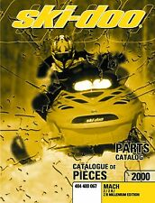 Ski-Doo parts manual catalog book 2000 MACH Z, MACH Z R & MACH Z R MILLENNIUM