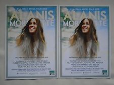 "ALANIS MORISSETTE ""Guardian Angel"" 2012 UK Arena Tour RARE Promo tour flyers x 2"
