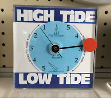 Tide Clock Schelling 6-inch Blue US East Coast Paddling Boating Surfing Fishing