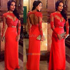 Sexy Women's Lace Long Evening Gown Formal Bridesmaid Cocktail Party Dresses