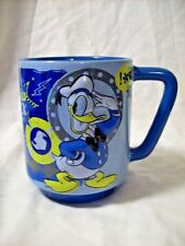 The Disney Store Blue 16 oz Donald Duck Mug With 3D Design Happy Angry Embossed
