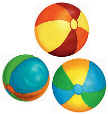 Beach Balls 7 Big Round Red Blue White Blow Up Ball Wall Murals Stickers Wallies