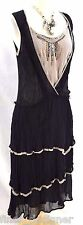 Lux Urban Outfitters Dress Mesh silk distressed Cocktail Anthropologie SZ 5 NEW
