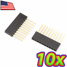 [10x] 10 Pin Female Tall Stackable Header Connector Socket Arduino Shield 10P