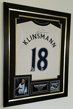 *** Rare Jurgen Klinsmann of Tottenham Signed Shirt Display *** AFTAL DEALER COA