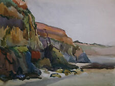 WATERCOLOUR PAINTING by W.McDOWALL SCOTTISH ARTIST A ROCKY COASTLINE