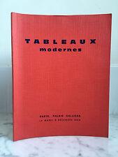 Catalogue de vente Tableaux modernes Asuarelles Dessins 9 Décembre 1969