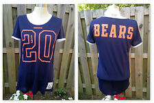 NWT XS Victoria's Secret Pink Chicago Bears NFL Football Jersey T Shirt Tee Top