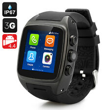 iMacwear SPARTA M7 Smart Watch Phone - Android 4.4 OS, Dual Core CPU, 3G (Black)
