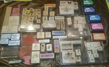 Rubber Stamp Lot of 139 + ink pads. Stampin up, Hero Arts & more...