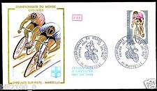 enveloppe premier jour d'émission.Marseille.championnats du monde cyclistes.1972