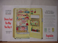 1955 Frigidaire Imperial Cold Pantry Refrigerator Color Vintage Print Ad 10539