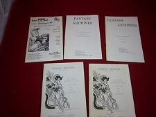 Fantasy Archives; 5 Booklets/Catalogs; G PB; 160907