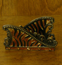 Welforth Pewter Business Card Holder #H164 LEOPARD DESIGN, From Retail Store