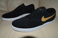 New Nike Mens Eric Koston 2 SB Shoes 580418-070 sz 11 Black Metallic Gold