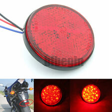 Motorcycle Car Truck Round 24 LED Brake Turn Signal Stop Tail Lights reflectors