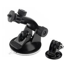 Suction Cup 1/4 Tripod Mount holder adapter attachment for Gopro Hero any Camera