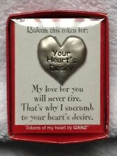 """ROMANTIC Party of 2, Love Token, Redeem this for """"Your Heart's Desire"""""""