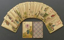 Antique STRALSUND Lenormand Fortune Telling Oracle Cards Deck VTG ca WW1