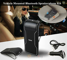 Wireless Bluetooth Multipoint  Handsfree Speakerphone Speaker Kit Car Sun Visor