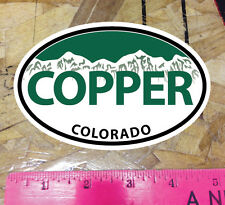 COPPER Mountain Colorado Green Oval Sticker State Ski Snowboard - 5""