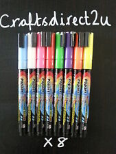 8 x 3 mm COLOUR POPART  Liquid Chalk Marker Pens- Chalkboard - Glass- Crafts