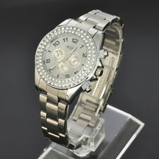 SOKI New Crystal Silver Analog Quartz LADY Womens Wrist Band Watch W116