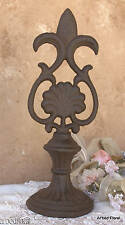 Cast Iron Fleur De Lis Style Finial Doorstop Paperweight Tabletop Decor