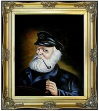 Framed, Old Sea Captain Repro, Quality Hand Painted Oil Painting 20x24in