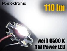 5 Stück LED 1W High Power weiß 110 lm 5mm Linse