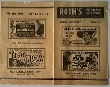 UNDERWATER DR. JEKYLL HYDE 1955 ad sheet for Roth's Theater (Silver Spring MD)