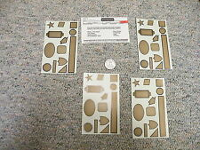 Walthers decals O Gauge Accesories Loco panels gold J109