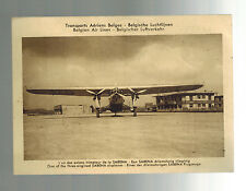 1933 Brussels Belgium to Essen Germany first flight Postcard cover FFC Sabena