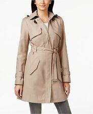 COLE HAAN XL Zip Front Trench Coat Dune NEW w/Tags 398.00 msrp