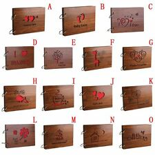 8 Inch Memory DIY Photos Book Gifts Romance Baby Lovers Wood Cover Photo Album