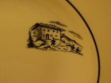 Vintage Buffalo Colorido Ware The Gotham Hotel New York Flat Soup Bowl
