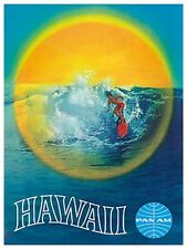 "Art Hawaii Travel Poster Vintage Rare Hot New Original 12x16"" TR96"