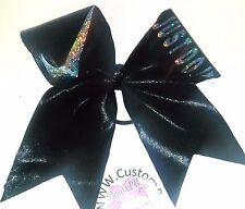 Nike Just Do It. Black Mystique Cheer Hair Bow