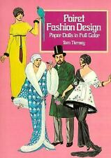 Poiret Fashion Design Paper Dolls in Full Color-ExLibrary