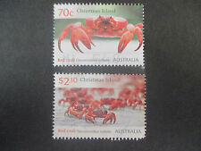 -2014    CHRISTMAS  ISLAND   CRABS    ISSUE   2   STAMPS  -USED -- A1